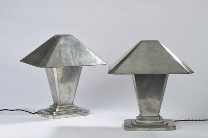 Maurice DAURAT (1880-1969). Paire de lampes...