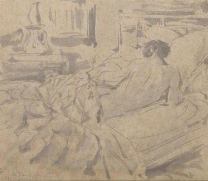 Emile COMPARD (1900-1977) Femme nue allongée...
