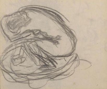 Pierre BONNARD (1867-1947) Nu Dessin au fusain...