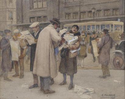François MOURGUE (1884-1954) La marchande...