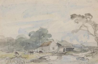 Johan-Barthold JONGKIND (1819-1891) Paysage...