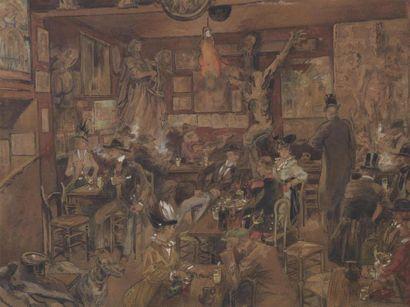 Georges TIRET-BOGNET (1855-1935) Au lapin...
