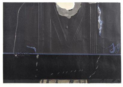 Antoni TAPIÈS (1923-2012) Composition noire...