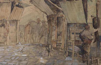 Jean Émile LABOUREUR (1877-1943) Vue de Smyrne,...