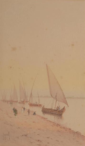SCARVELLI Spysidore (1868-1942) Vue du Nil...