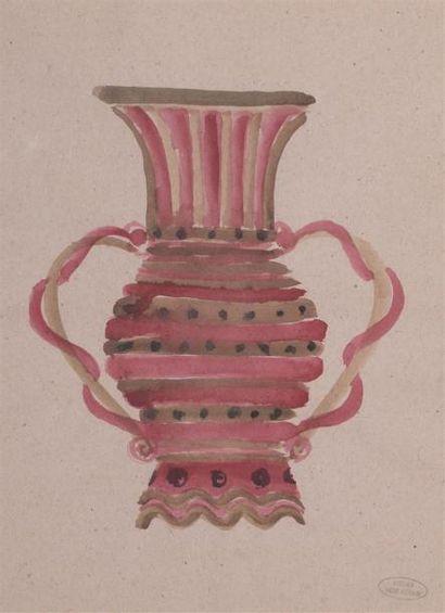 André DERAIN (1880-1954) Vase rose à deux...
