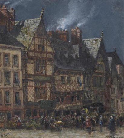 William WILD (XXe siècle) Marché de Saint...