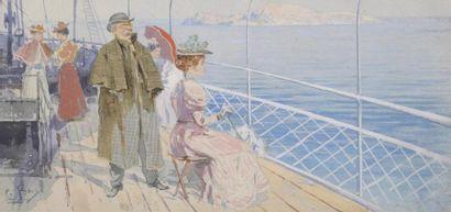 C.BRUN (XXe siècle) Croisière en méditerranée...