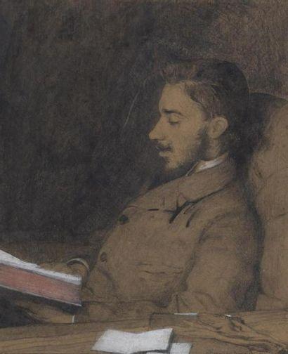Hughes DE BEAUMONT (1874-1947) Homme à la...