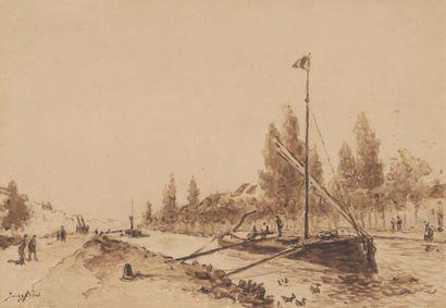 Johan-Barthold JONGKIND (1819-1891) Canal...