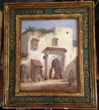 Louis TESSON (1820-1870) La maison blanche...