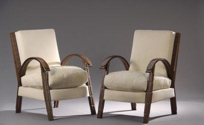 PRINTZ Eugène (1879-1948) Paire de fauteuils...