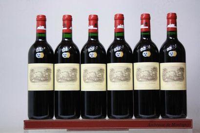 6 bouteilles CHÂTEAU LAFITE ROTHSCHILD -...