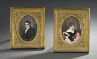 Jean Edmé Delacluze ( 1778-1858) Portraits...
