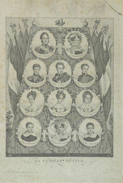 École française vers 1840 Gravure représentant la famille de Louis Philippe sur...