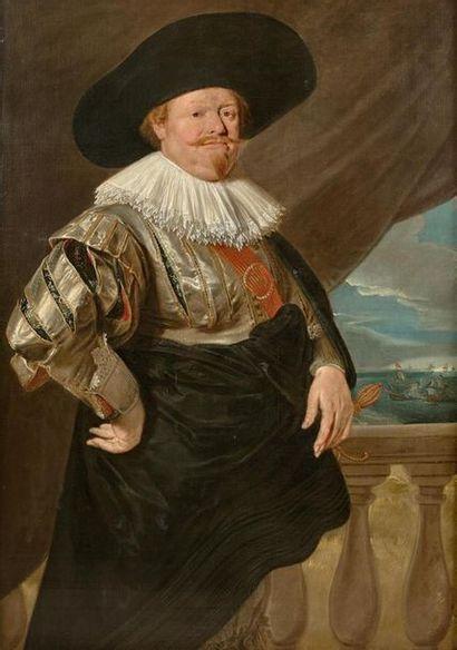 École Hollandaise du XVIIe siècle, suiveur de Frans Hals Portrait d'un amiral Toile....