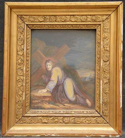 Attribué à Jean-Baptiste PATER (Valenciennes 1695 - Paris 1736) Christ portant la...