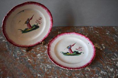 Les Islettes, XVIIIème siècle Deux assiettes...
