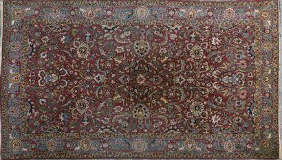 Tapis Keshan, Iran En laine et en soie (velours)....