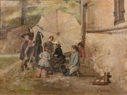Elisabeth de STOUTZ (Genève 1854-1917) La...