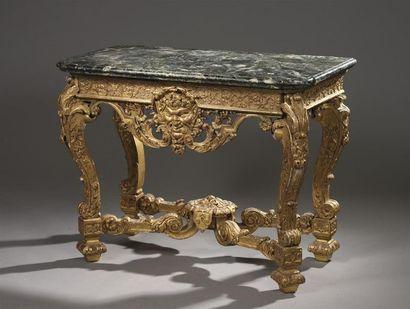 Console en bois sculpté et doré d'époque...