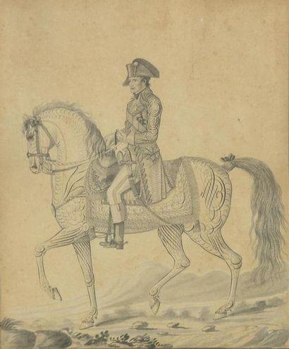 AUVREST (actif à Paris à la fin du XVIIIe et début du XIXe siècle) Napoléon à cheval...