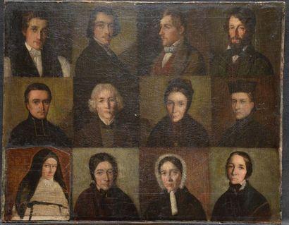École française vers 1830 Douze portraits...
