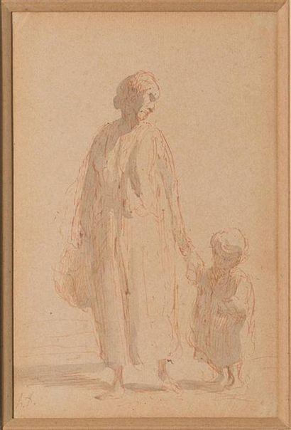 Honoré Daumier (1808-1879) Mère et enfant...
