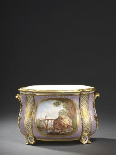 Sèvres, XVIIIe siècle, 1779 Cuvette à fleurs...