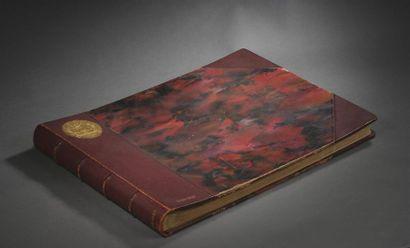 Ouvrage relié présentant des récits de chasses de la forêt de Villers-Cotterêts...