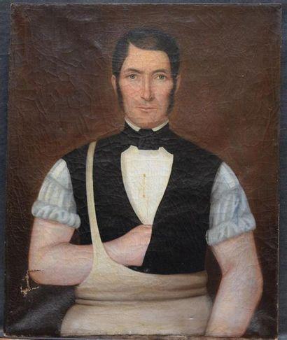 École FRANCAISE vers 1855 Portrait d'homme...