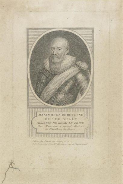 D'après Pourbus Henri IV et Sully Paire de...