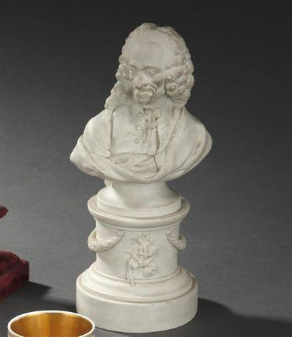 Niderviller , XVIIIe siècle Buste de Voltaire...