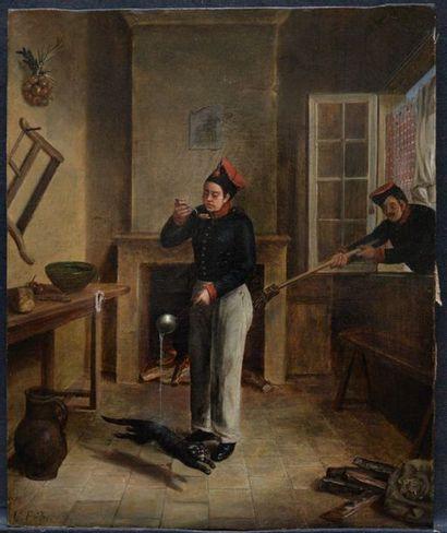 C. ENDES*** école FRANCAISE vers 1820 Le...