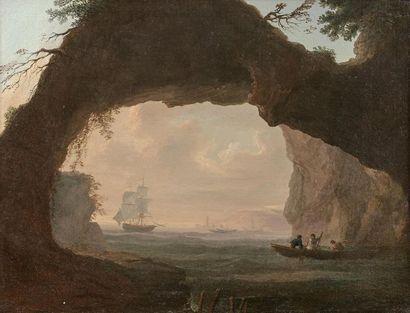 Attribué à Henri d'ARLES (1734-1784) Pécheurs...