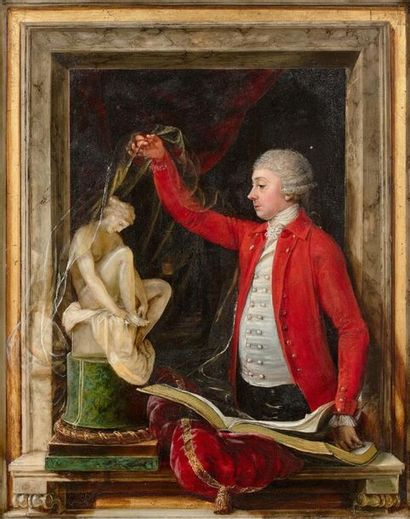 École Hollandaise vers 1770 Le voile levé...