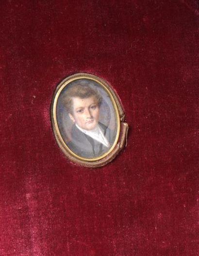 École francaise vers 1830 Portrait de Leopold...