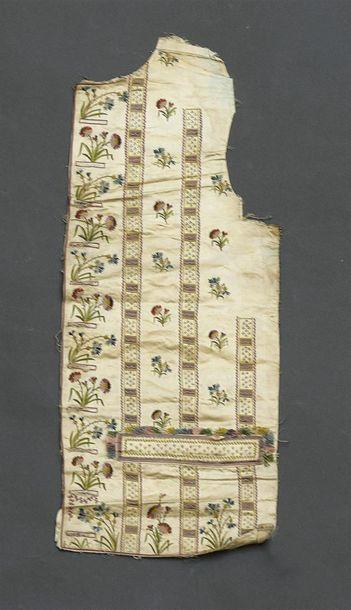 Gilet démonté, vers 1790, gilet droit en...