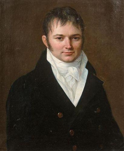 École FRANCAISE vers 1815 Portrait d'homme...