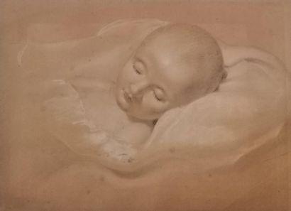 École française du XVIIIe siècle Portrait présumé du roi de Rome Trois crayons,...