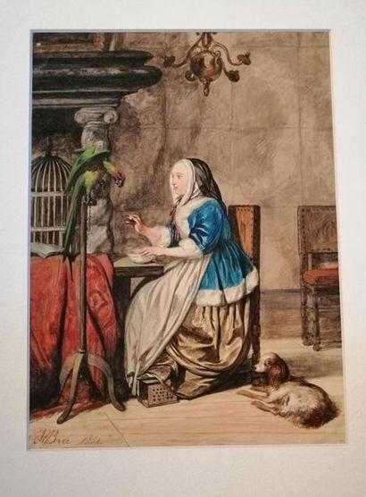 Johannes VAN BREE (Amsterdam 1801-1857) Femme...