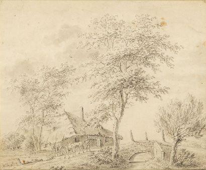 Attribué à Jacob CATS (1577-1660) Paysage...