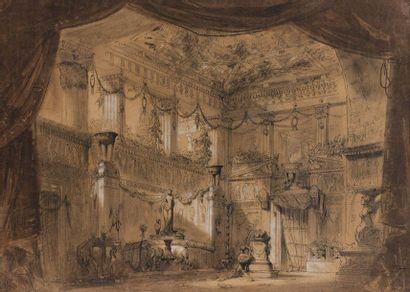 Ecole FRANÇAISE vers 1860 Deux projets de...