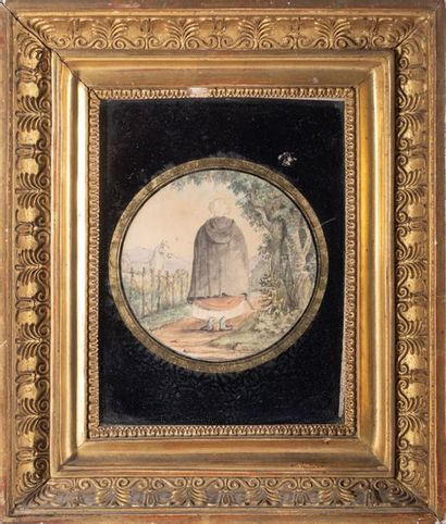 Ecole FRANCAISE vers 1800 Marie Jeanne Dufos...