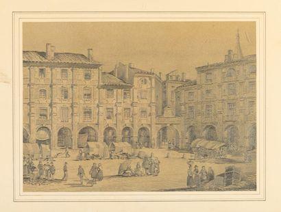 Ecole FRANCAISE, 1856 Vue de la place impériale...