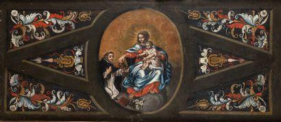 Ecole FRANCAISE vers 1700 La Vierge et l'Enfant...