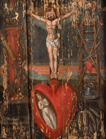 Ecole FLAMANDE du XVIIème siècle Christ en...