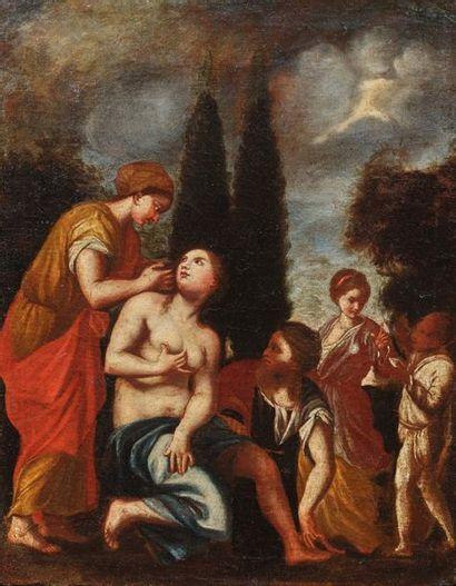 Ecole ITALIENNE du XVIIème siècle La toilette...