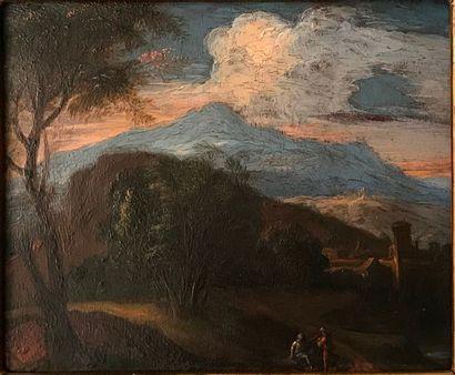 Ecole du NORD du XVIIIème siècle Paysage...