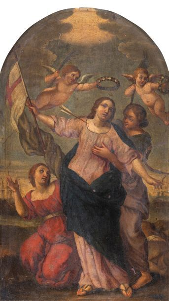 Ecole VENITIENNE du XVIIème siècle Sainte...